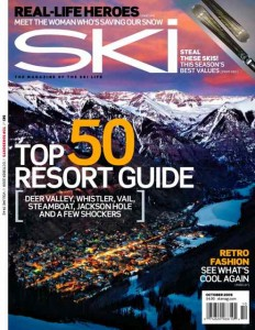 In Case You Missed It:  Telluride Graces the Cover of October's Ski Magazine