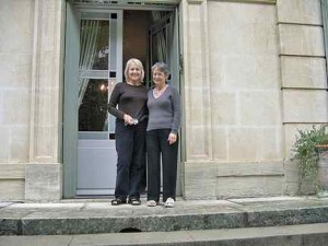 Diane (on the left) with One of Her Hosts
