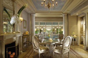 The Sitting Room of the Spa George V at the Four Seasons in Paris