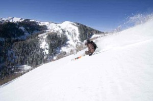 Floating on Pow at The Canyons