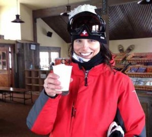 Me Toasting Women's Week on Top of the Mountain Today with Hot Chocolate