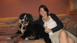 Enjoying a Wine and Quiet Time with DaVinci at Red Cliffs Lodge