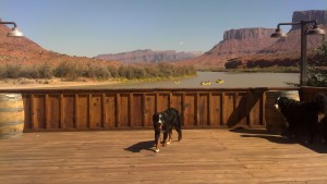 View from the Red Cliffs Lodge Main Deck