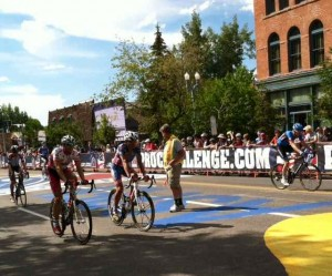 The Cyclists Cooling Down After the Aspen Finish
