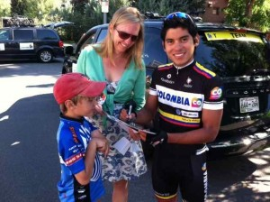 Aspen Meet & Greet:  A Great Place for Bike Enthusiasts of All Ages to See the Cyclists