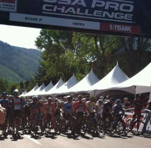 The World's Top Cyclists at the Start Line in Aspen