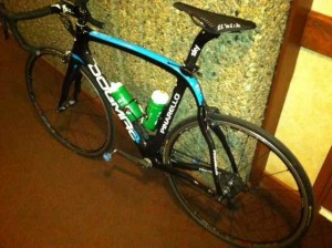 A Pro's Bike in the Hallway at Beaver Run:  Always a Good Sign that There's Fun to Be Had