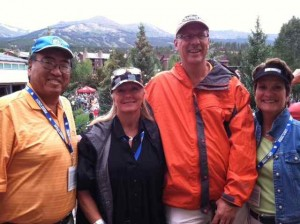 Socializing with Bruce Horri and Bob Barto from Beaver Run and Their Wives Atop the Breckenridge Chamber of Commerce