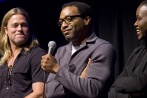 Brad Pitt, Chiwetel Ejiofor and Lupita Nyong'o from 12 Years a Slave in Telluride