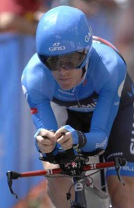 American Andrew Talansky in the Vail Time Trial