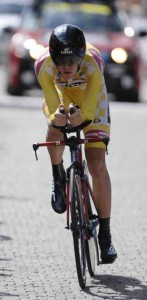 American Tejay Van Garderen Winner of the USA Pro Challenge at the Time Trial in Vail