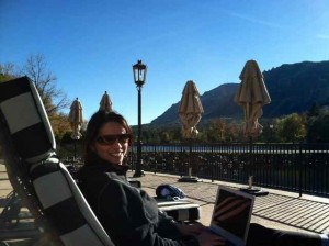 Working and Sunning at The Broadmoor