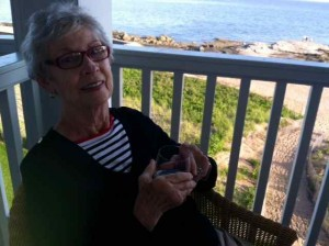 Mom on Our Veranda at the Madison Beach Hotel