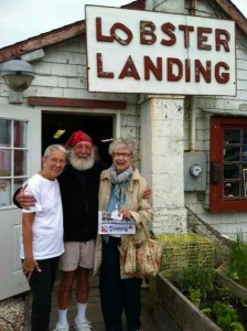 Mom with the Owners of Lobster Landing