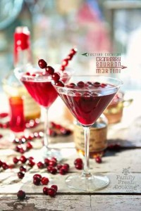 Marla's Maple Cranberry Bourbon Martini