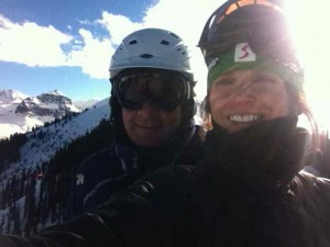 Selfies Are Even Sweeter When You're Skiing at Almost 12,000 Feet the First Day of the Season with Your Sweetie