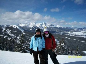 Instructor Patty Lowe and Her Lady on Top of the Telluride World During Women's Week
