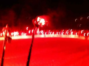 View of My Torches/Ski Poles