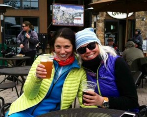 Toasting Girl Power at the Base of Peak 7