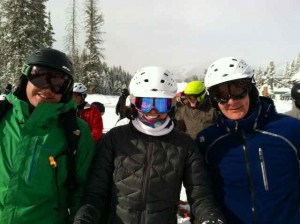 Me Joining the Big Boys at the Front of the Powder Line