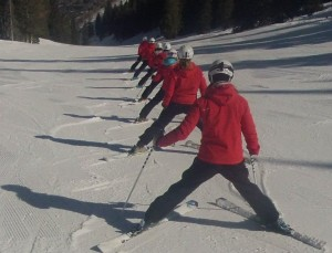 Southern Synchro Skiers Lining Up