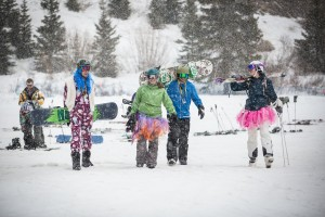 Spring Skiers and Riders