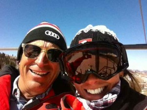 Chairlift Selfie with Rich Grimes, One of My Supervisors