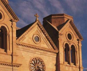The Cathedral Basiica of St. Francis of Assis in Santa Fe, New Mexico