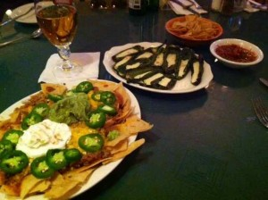 Nachos and Grilled Jalapeños at Tiny's