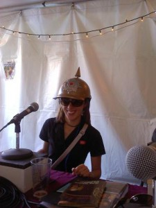 Manning the KOTO Booth at the Telluride Bluegrass Festival