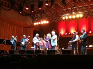 Alison Krauss and Del McCoury with Our T-ride Regulars