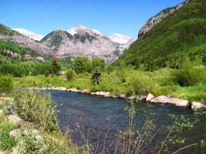 A Quintessential River View of Telluride Last Week Before the Crowds Arrived