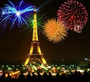Paris Celebrating Bastille Day Last Night
