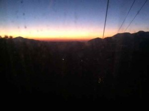 Sunset from My Gondola Ride Home After Last Night's Concert