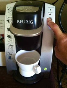 Housekeeping Trying to Get My Keurig to Work on a Recent Hotel Stay