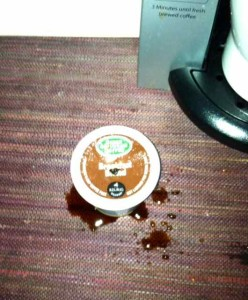 Evidence of Yet Another Bad Coffee Episode