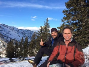 Spring Skiing for My Brother Frank and His Friend, Ira, in Snowbird, Utah, Too