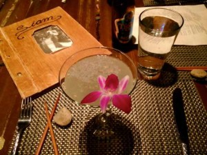 A Sake-tini from Siam's Talay, Another Forbes Favorite