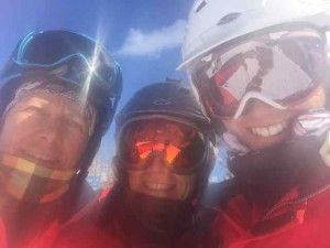 Marti, Cristina and Me on a Ski Break