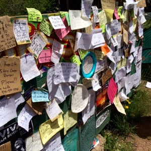 A Great Resource for Ticktes and More: The Bulletin Board at the Telluride Bluegrass Festival