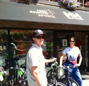 Me Picking Out a Bike in Aspen
