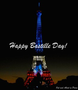 Happy Bastille Day from Out and About in Paris