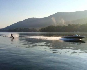 Waterskiing on Lake George, New York