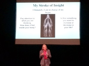 Dr. Jill Bolte Taylor Talking at Telluride First's Integrative Wellness Summit