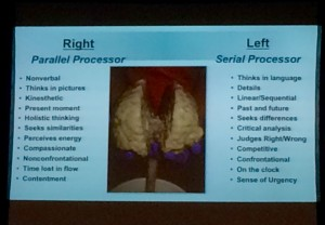 Left and Right Brain Differences as Presented by Dr. Taylor