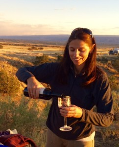 Serving Myself a Wine in Fruita, Colorado