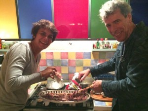 Véronique and Stéphane Preparing Dinner at Their Place in Paris Just a Year Ago