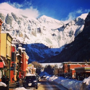 The Town of Telluride, Colorado After the Storm