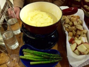 A Bubbling Pot of Fondue at Alpinist and the Goat