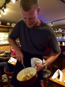 Scraping the Goods Off of the Bottom of the Fondue Pot: The Best Part